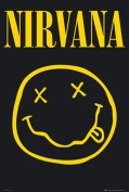 Nirvana (Smiley Face) Music Poster Print