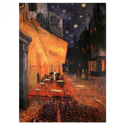 Oriental Furniture Classic Van Gogh Reproductions, 80cm The Café Terrace, Arles at Night, Art Print on Stretched Canvas, 80cm by 60cm