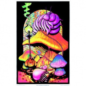 Alice in Wonderland Dreaming Flocked Blacklight Poster Art Print