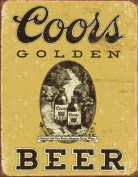 COORS Golden Vintage Tin Sign , 12x16