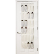 Household Essentials 24 Pocket Over-the-Door Shoe Organiser - Natural Blend