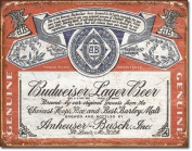 Budweiser Historic Label Distressed Retro Vintage Tin Sign , 16x13 Multi-Coloured