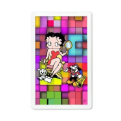 Betty Boop Lenticular Magnet with Clear Acrylic Frame 2x4, 3D Movie Star Mosaic Image, Rainbow