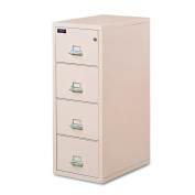 FireKing 421572PA 60cm Insulated 4-Drawer Vertical File with 2-Hour Protection, Parchment