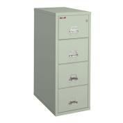 Fireking Fireproof Vertical File Cabinet (4 Legal Sized Drawers, Impact Resistant, Waterproof), 52 .190cm H x 50cm W x 80cm D, Platinum