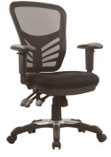 Manhattan Comfort MC-616-BL Executive Mesh High-Back Adjustable Office Chair, Black