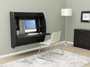 Prepac Desks Floating Storage Desk in Black BEHW-0200-1
