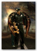 The Difference between us and them - Police Officer by James Bullard 50cm x 30cm Art Print Poster