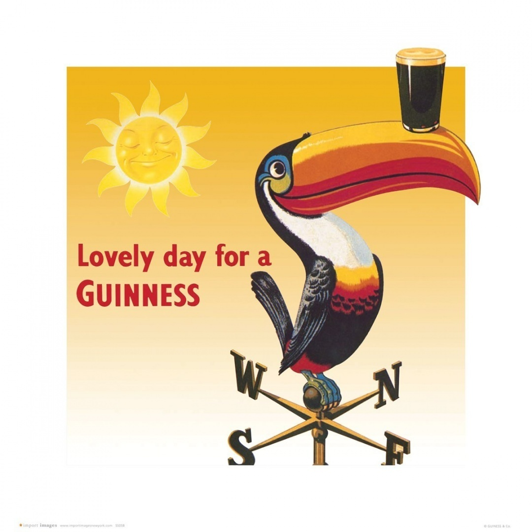 Toucan Lovely Day for a Guinness Vintage Beer Alcohol Advertising ...