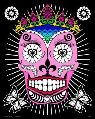 Queen (Day of the Dead) Fuzzy Poster - 41cm x 50cm