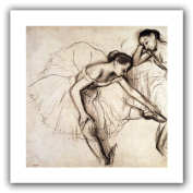 Art Wall 'Two Dancers Resting' Unwrapped Flat Canvas Artwork by Edgar Degas