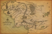 Map Of Middle Earth The Lord Of The Rings Nice Silk Fabric Cloth Wall Poster Print