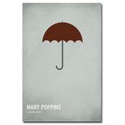 Trademark Fine Art Mary Poppins by Christian Jackson Canvas Wall Art