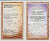 Footprints in the Sand Holy Prayer Laminated Cards Set of 2