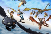 How to Train Your Dragon 2 Nice Silk Fabric Cloth Wall Poster Print
