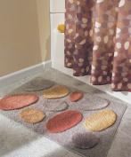 InterDesign Microfiber Pebblz Bathroom Shower Accent Rug, 34 x 21, Brown