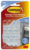 3M Command Fridge Clips, Clear, 6-Clip, 4-Pack