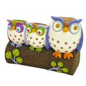 Allure Home Creations Awesome Owls Resin Toothbrush Holder