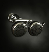 Neptune Dual Shower Heads - Brushed Nickel