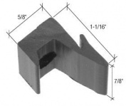 C.R. LAURENCE M6120 CRL Black 1.6cm Sliding Shower Door Jamb Guide