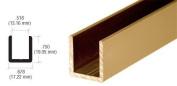 CRL Antique Brass 1.3cm Fixed Panel Shower Door Deep-U Channel - 250cm by CR Laurence