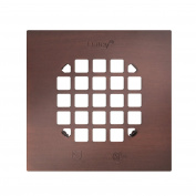 Oatey 46267 Square 11cm Snap-Tite Drain Strainer, Rubbed Bronze