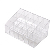 . 24 Stand Transparent Plastic Trapezoid Makeup Cosmetic Organiser Holder Storage Display Stand