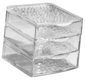 InterDesign Rain 3-Drawer Box, Clear