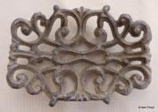 Cast Iron Victorian Filigree Soap Dish ~ Rustic Brown