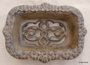 Cast Iron Victorian Soap Dish ~ Rustic Brown