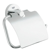Grohe 40 367 EN0 Essentials Toilet Paper Holder with Cover, Brushed Nickel