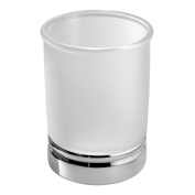 InterDesign York Tumbler, Clear Frosted