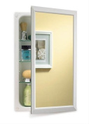 Broan-NuTone 625N244WHC Hampton Recessed and Framed Medicine Cabinet, White