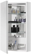 Robern CB-PLM2030WBLE Pl-Series Left-Side Flat Bevel Mirror Medicine Cabinet with Outlet, White