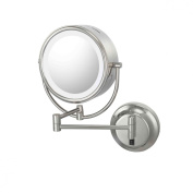 Kimball & Young 925135HW Neo-modern LED Hard-wired Double Sided Wall Mirror, Brushed Brass Brushed Brass