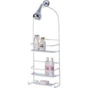 Homebasix SS-5786-PE-3L Deluxe Shower Caddy, White