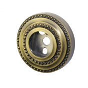 Allied Brass DT-98-ABR Shower Curtain Escutcheon, Antique Brass