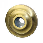 Allied Brass QN-98-SBR Shower Curtain Escutcheon, Satin Brass