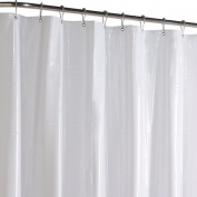 Maytex No More Mildew Super Heavy Weight Mildew Free Premium 10 Gauge Shower Liner or Curtain with Rust Proof Metal Grommets, White