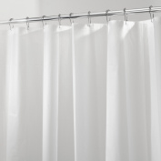 InterDesign PEVA 3 Gauge Shower Curtain Liner - Mould/Mildew Resistant, PVC Free – Frost, 140cm x 200cm