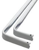 Levolor Kirsch A7004213278 Heavy Duty Double Curtain Rod, 84 to 300cm Width, White