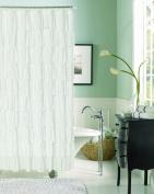 Dainty Home Flamenco Ruffled Shower Curtain, 180cm by 180cm