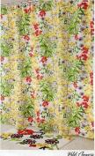 Vera Bradley Wild Flowers Fabric Shower Curtain ~ 180cm X 180cm