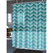 Splash Bath Mill Aqua & Baby Blue Chevron PEVA Shower Curtain