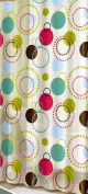 Atom Vinyl Shower Curtain Circles & Dotted Circles