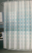 Fade Geometric Sky Blue Vinyl Shower Curtain