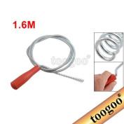 TOOGOO(R) Red Plastic Grip Snake Spring Pipe Rod Sink Drain Cleaner Unblocker 160cm