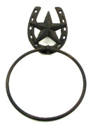 Star With Horseshoe Towel Ring