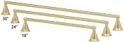 80cm Polished Brass Towel Rack/Bar/Holder, Bishop Mounts