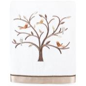 Avanti Friendly Gathering Bath Towel, White